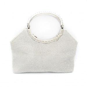 Pave  hobo bag shaped evening clutch bag